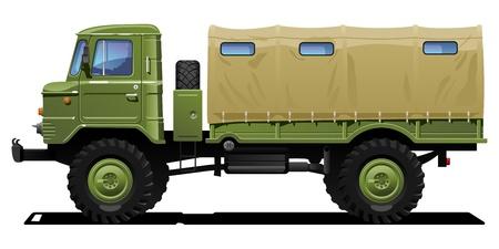 military truck Stock Vector - 10412796