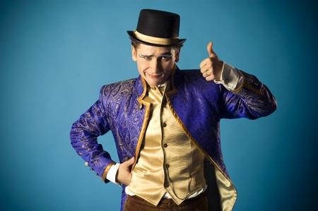 airs: mimics an actor Stock Photo