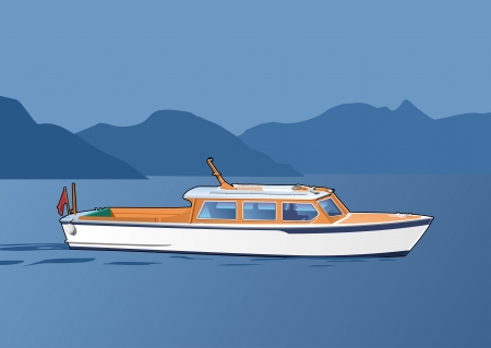 white boat Vector