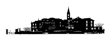 the town. Vector