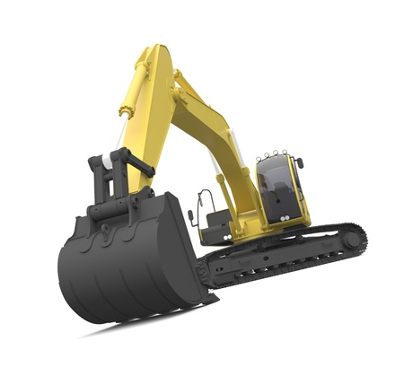 heavy construction: excavator Stock Photo