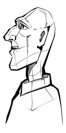 male profile Illustration