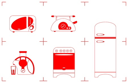 household goods: A Vector illustration of the household goods