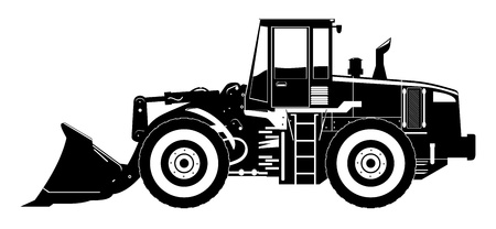 heavy equipment loader Stock Vector - 14396241
