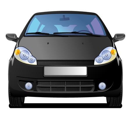 driving a car: Coche negro Vectores