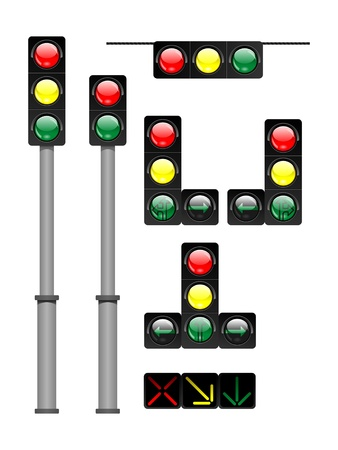 traffic signal: traffic lights