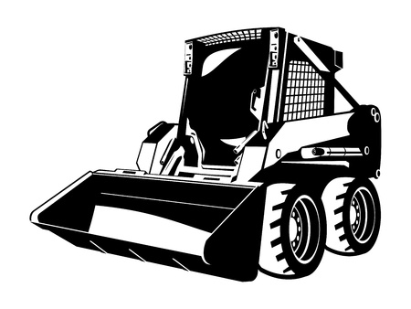 digging: skid loader Illustration