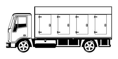 car side view: truck. Illustration