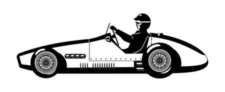 motor racing: Coche deportivo de edad