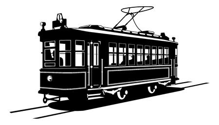 streetcar: tranv�a Vectores