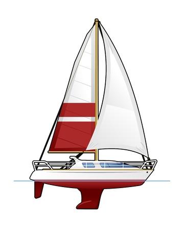 yacht isolated: yate