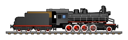 train cartoon: vintage train. Illustration