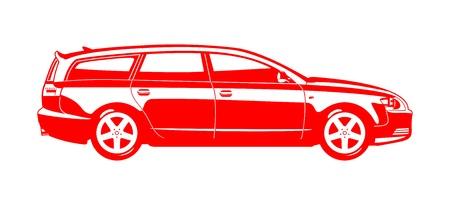 combi: Station wagon. Illustration