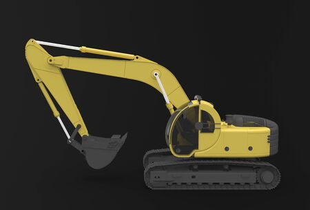 earthmoving: excavator Stock Photo