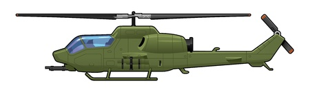 military helicopter: attack helicopter  Illustration