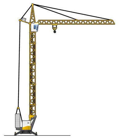 lifting: crane tower Illustration