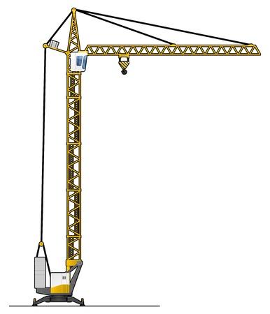crane tower Illustration