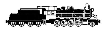 steam locomotive: vintage train. Illustration