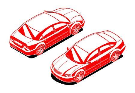 orthogonal: isometric image of a car