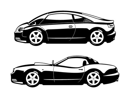 car side view: Sports cars