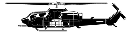 attack helicopter  Illustration