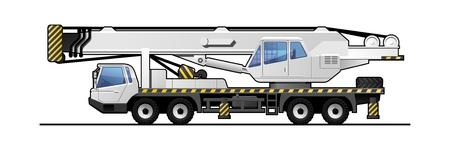 truck crane  Stock Vector - 17295374
