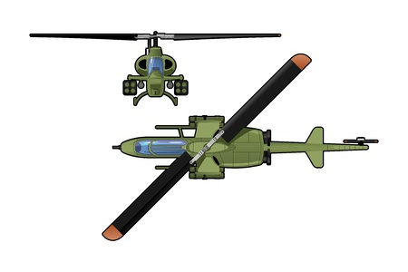 air war: attack helicopter  Illustration