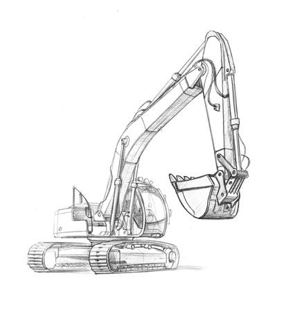 excavate: drawing excavator