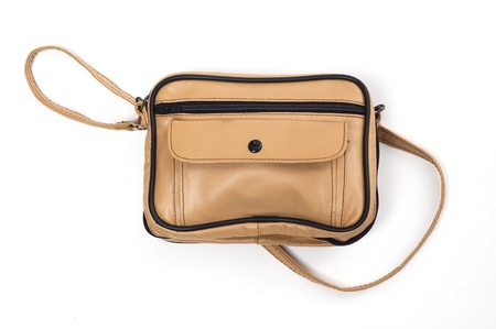carryall: leather bag Stock Photo