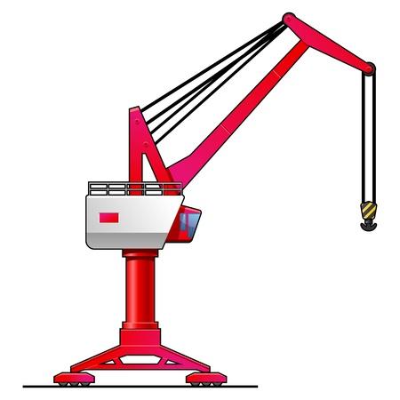 overhead: gantry crane Illustration