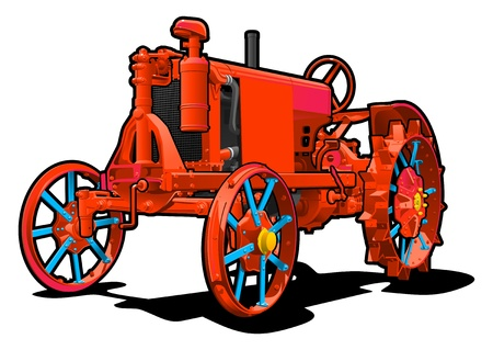 wheeled tractor: tractor Illustration