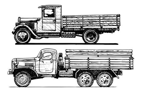 motoring: two vintage car