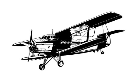 drawing of airplane Vector