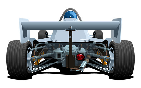 racing car: vector illustration of  formula 1   Back elevation   Simple gradients only - no gradient mesh