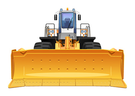 dozer: illustration of a bulldozer