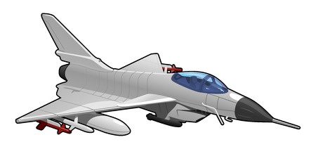 exterminator: illustration of fighter jet Illustration