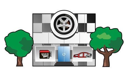 spares: illustration of auto factory