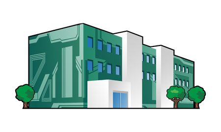 illustration of electronics factory   Illusztráció