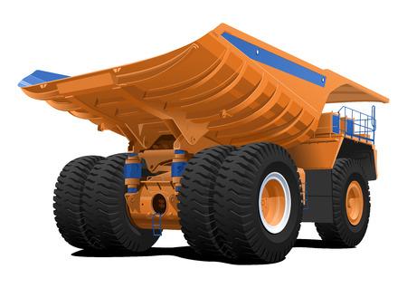 vector illustration of Dump truck  Simple gradients only - no gradient mesh