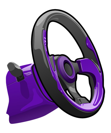 gearings: vector illustration of a steering wheel   Illustration