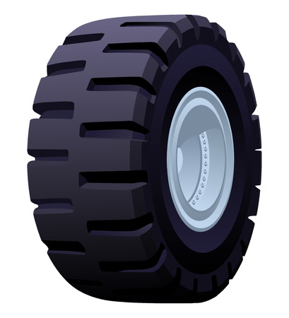tire cover: illustration of a wheel. Simple gradients only - no gradient mesh.