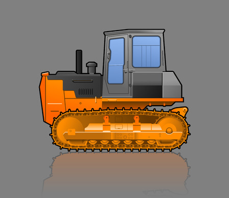 crawler tractor: Vector color illustration of  crawler tractor. Simple gradients only, no gradient mesh.