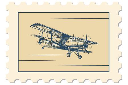 illustratie van de postzegel met de vlucht foto