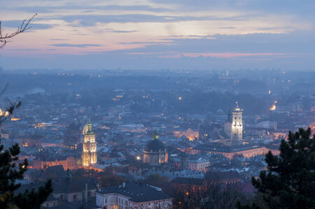 lemberg: Night scenery of Lvov