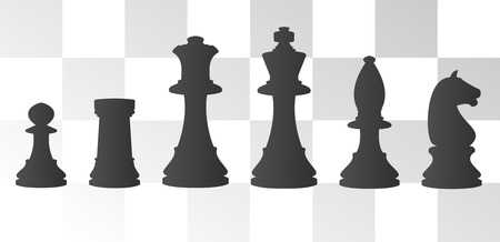 chess board: vector illustration of chess board with chess figure Illustration