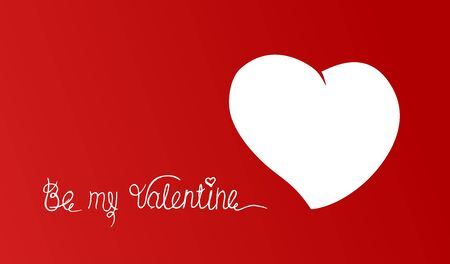 color vector illustration of Valentine hearts on red background.