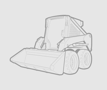 grey background: Un peque�o cargador de deslizamiento en las l�neas grises. fondo gris. Vectores