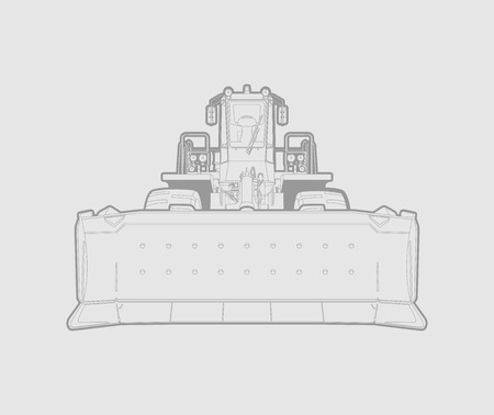 industrial background: vector illustration of a bulldozer in polygonal style. Solid fill only, no gradients. Illustration