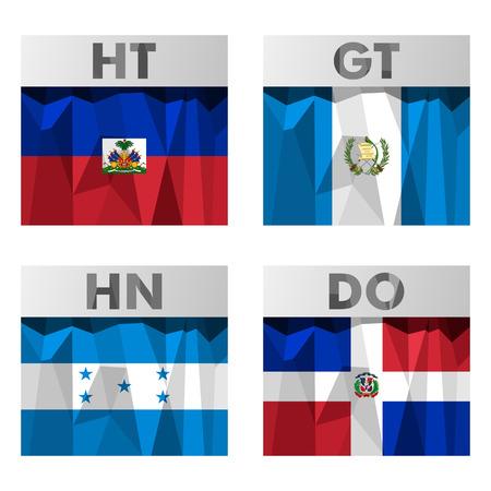 guatemala: flags of Latin America. Haiti, Honduras, Guatemala and Dominican Republic.