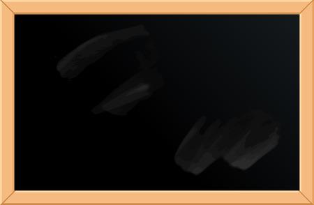 pizarron: Ilustración del vector de la pizarra vacía con marco de madera. Modelo